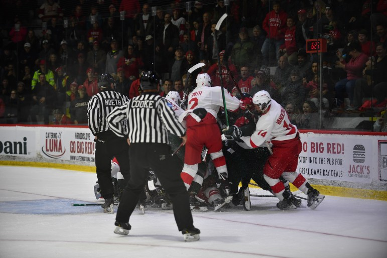 It was a physical game that featured plenty of post-whistle scrums.