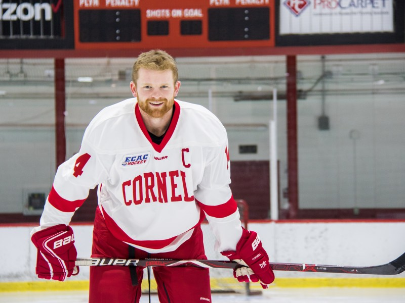 Mitch Vanderlaan is the only men's Division I college hockey player from New Brunswick.