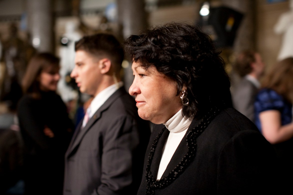 U.S. Supreme Court Justice Sonia Sotomayor prior to the start of President Barack Obama's State of the Union address on Capitol Hill in Washington, Jan. 25, 2011.