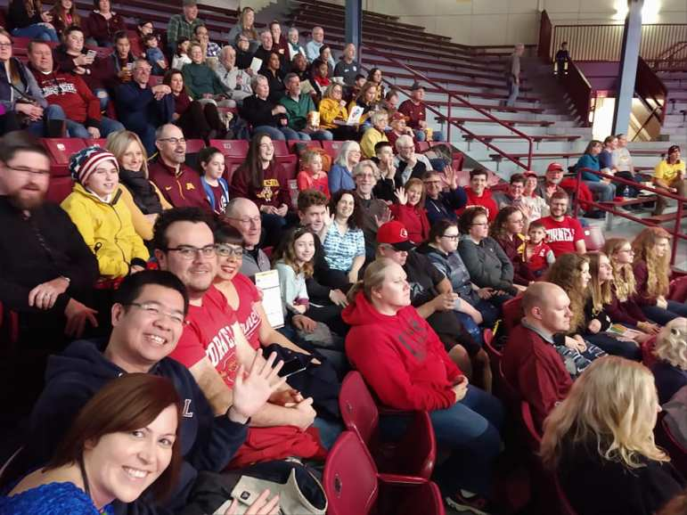Four of the Red's players call Minnesota home, and they were greeted by family and alumni at Williams Arena.