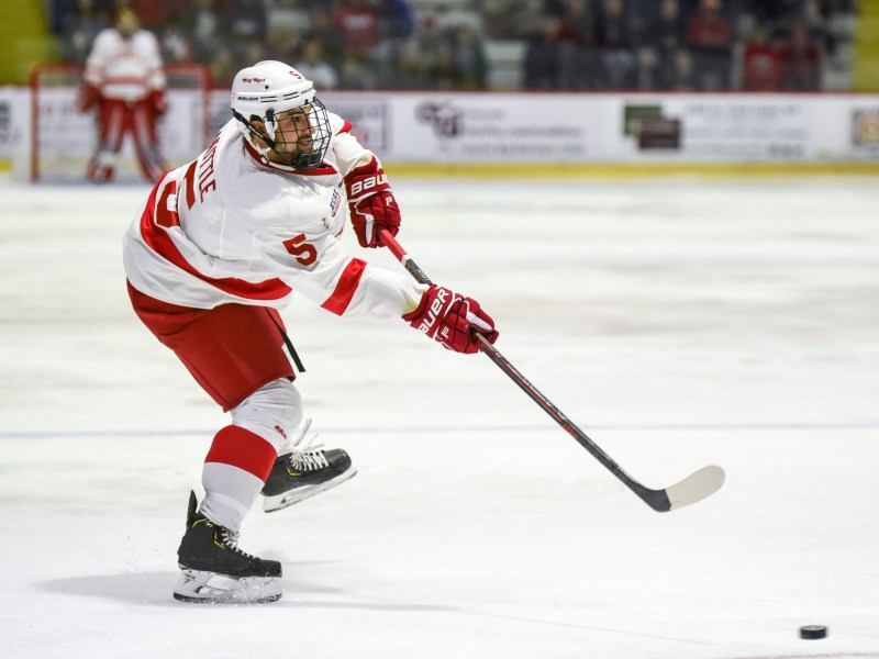 Senior Matt Nuttle, above, was one of the Cornell defensemen who had to step up Saturday as the Red was without two of its top blueliners.