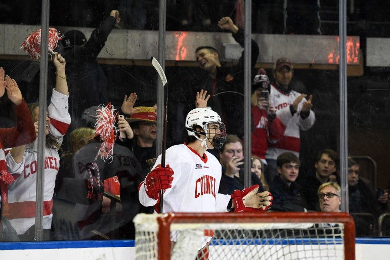 Freshman forward Liam Motley opened the scoring with his first collegiate goal but it was nowhere near enough to overcome Harvard.