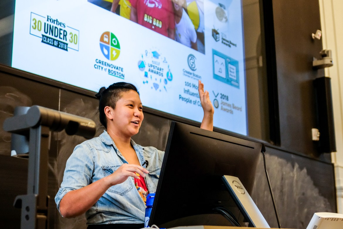 Irene Li '15 was named on Forbes 30 under 30 list for her Chinese restaurant and food truck. She spoke at Warren on Nov. 7.