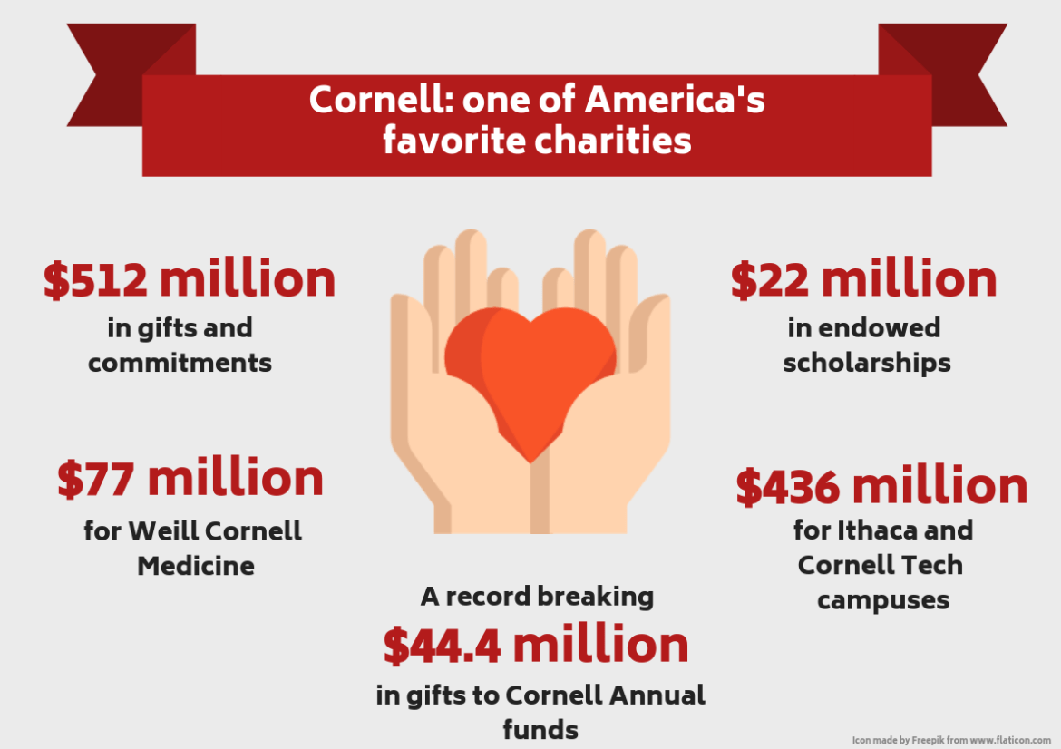 The University collected over $743 million in donations in 2017, compared to $1.28 billion from Harvard, according to The Chronicle of Philanthropy.