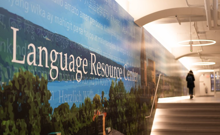 Students walk by the Language Resource Center at Stimson Hall on Wednesday. Prof. Barry Strauss '74, history and classics, produces his new podcast Antiquitas in the Language Resource Center; the podcast focuses on the stories of legends in ancient Greece and Rome. (Jing Jiang / Sun Staff Photographer)