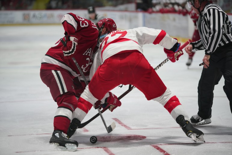 Sophomore Morgan Barron (pictured) had Cornell's second goal of the night. His top line is responsible for 10 of the past 15 Cornell goals including both against Harvard.