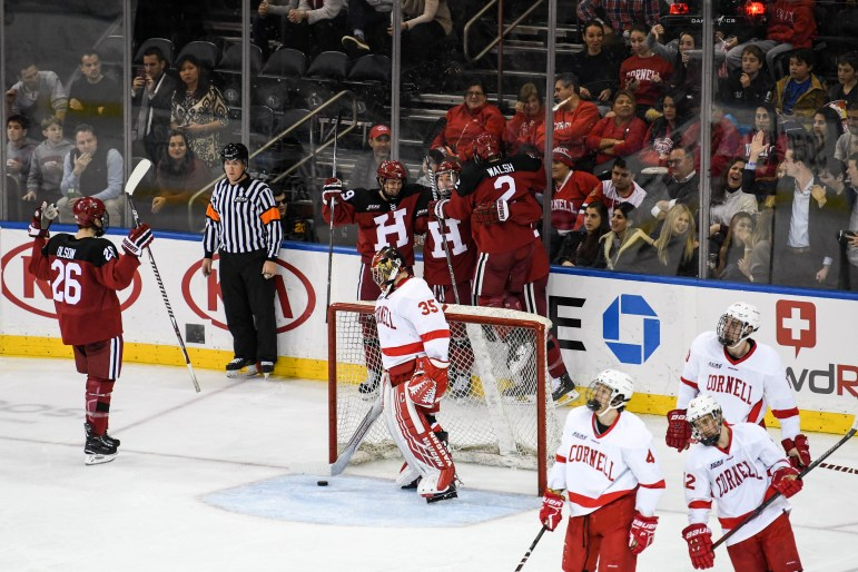 Cornell lost to Harvard in disappointing fashion at Madison Square Garden in November.