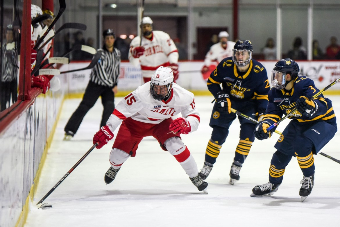 The Red gets another crack at Quinnipiac after a lucky goal gave the Bobcats a 3-2 win in Ithaca in November.