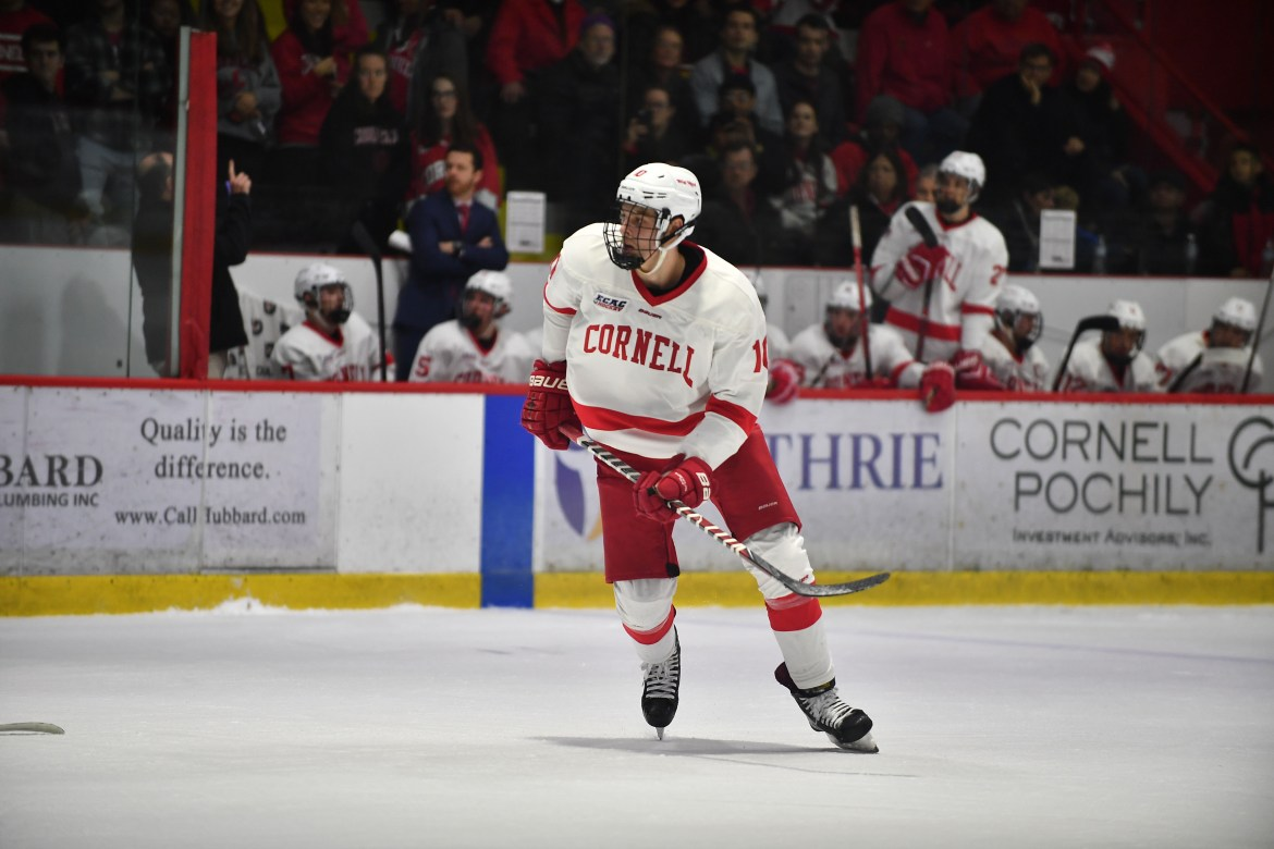 Beau Starrett had two goals for Cornell in a 6-1 win.