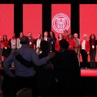 """Alumni sing the alma mater at 2018's Cornell Alumni Leadership Conference. An alumnus apologized over the weekend for referring to a Hall of Fame baseball player as a """"Negro"""" at this year's conference."""
