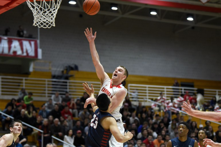Cornell trailed by a point with 2:28 to play, but finished the game on a 10-0 run to win.