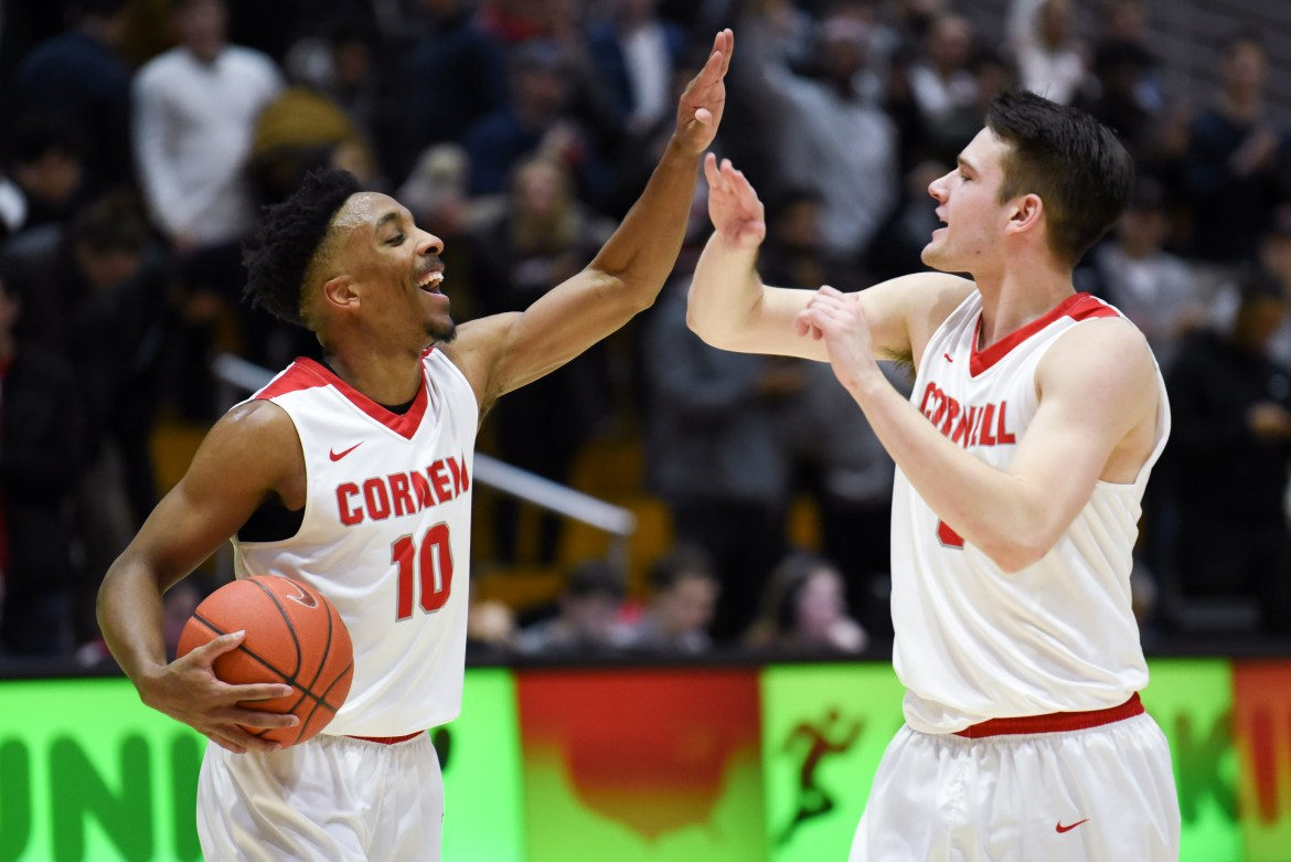 Senior guard Matt Morgan scored 19 of his 25 points in the second half as Cornell overcame a seven-point halftime deficit.