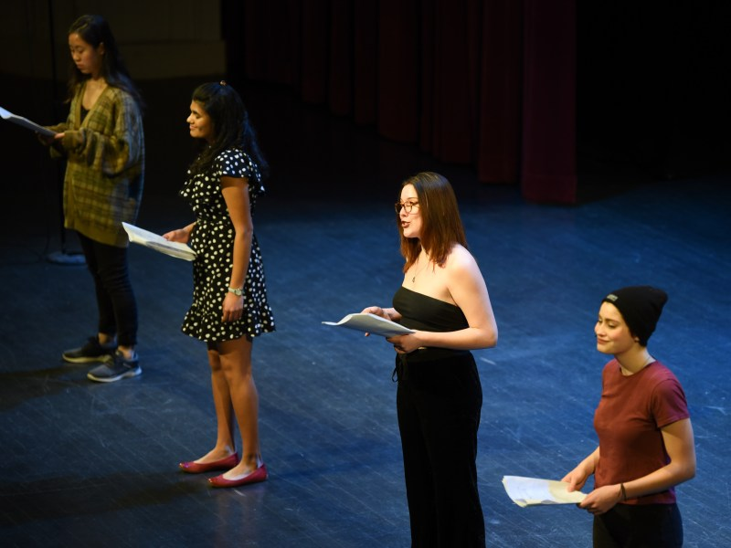 Vagina Monologues at Bailey Hall on February 9th, 2019. (Boris Tsang / Sun Assistant Photography Editor)