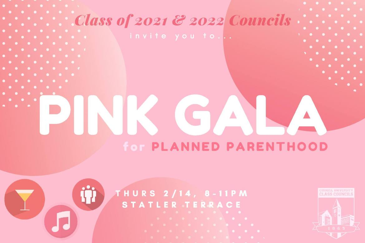 The Pink Gala will have pink themed food and decorations.