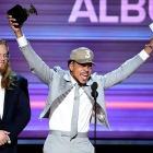 Chance the Rapper celebrates a Grammy win.