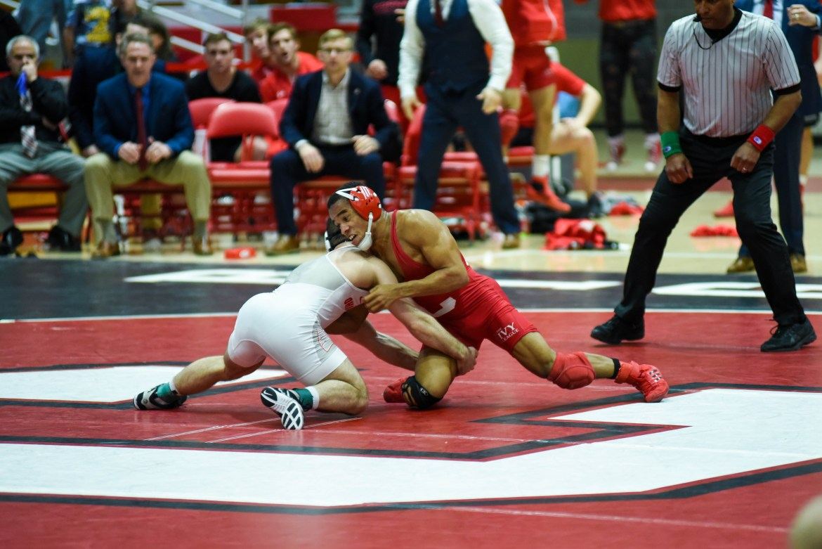 Junior Chas Tucker won his first EIWA title and was among six to earn an auto bid to NCAAs.