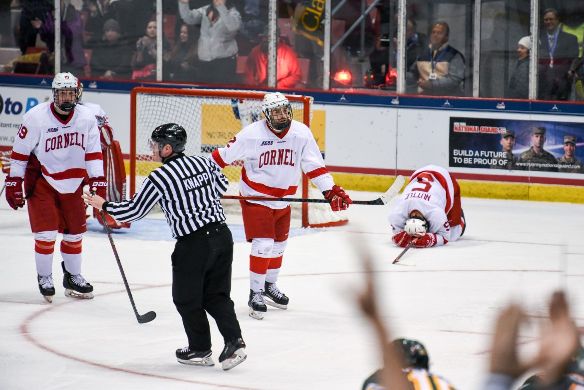 Cornell wallows in the defeat of Clarkson's overtime winner.