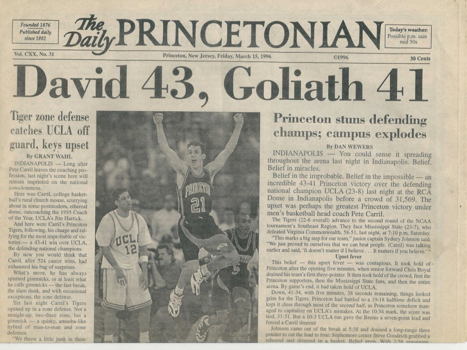 Though Ivy League schools make for unlikely Davids, they play the role every year in March Madness.