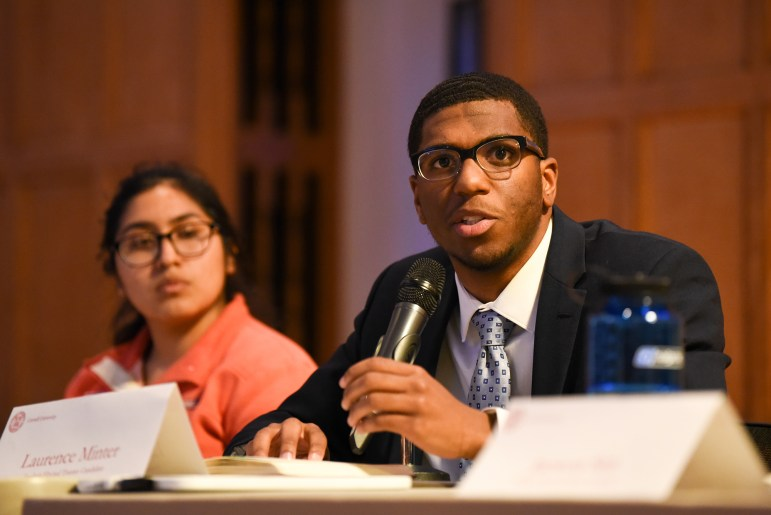 Laurence Minter '21, one of ten trustee candidates, answered pop quiz and yes or no questions about Cornell and his planned approach to the contested position.