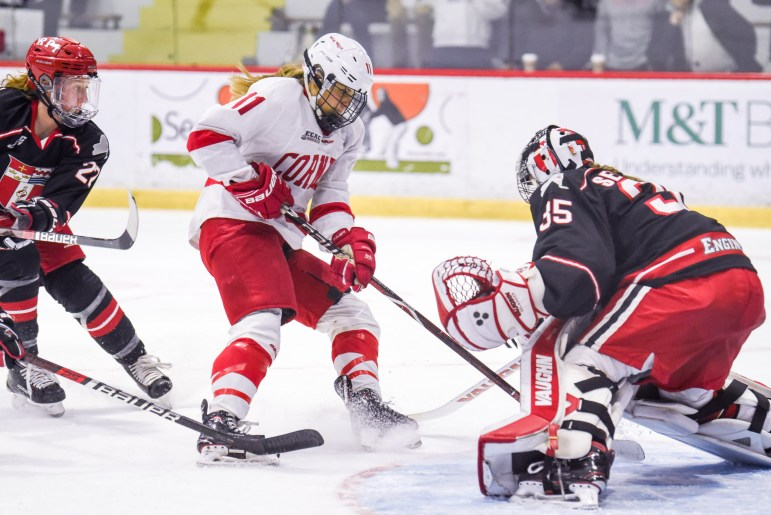 After being stymied over and over by Lovisa Serlander in games one and two, Cornell erupted for six goals in the series-clinching game.