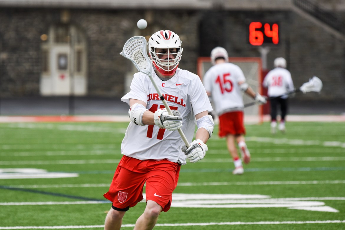 Cornell went on a late run to put away Notre Dame in an 11-9 win.