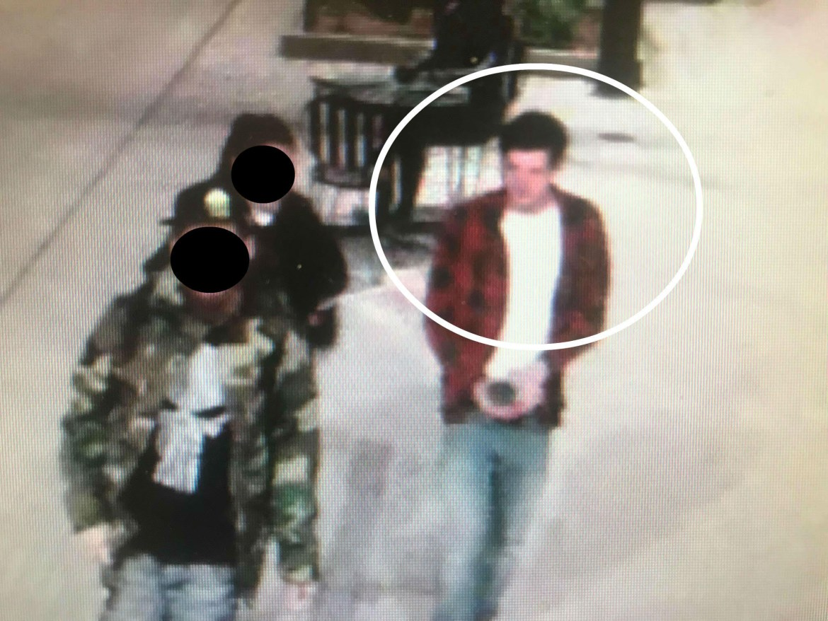 "Security footage in the Ithaca Commons shows a white male suspect in his early 20s who took a cup from the iconic ""Child of Ithaca"" statue."