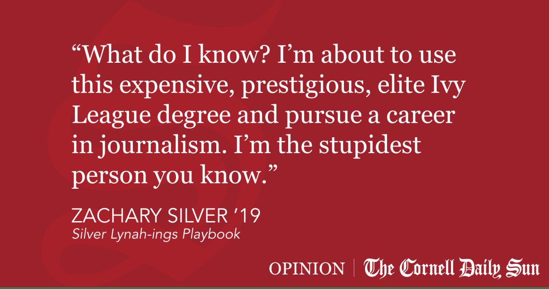 SILVER | Don't Read This Senior Column