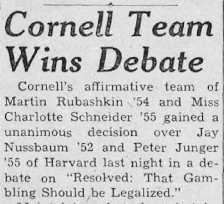 March 14, 1953 issue of The Cornell Daily Sun