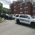 Law enforcement vehicles blocked off Lake Street between University Avenue and Lincoln Avenue for hours.