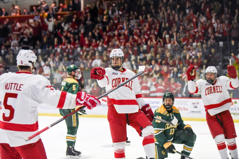For a truly unique sports experience, don a Cornell hockey jersey from the Cornell Store and join the chants at Lynah Rink as the crowd cheers on Cornell's nationally ranked men's hockey team. The Red kicks off ECAC play with a home game against Brown on November 8.