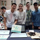Members of the CannaBusiness club tabled in Sage Hall.