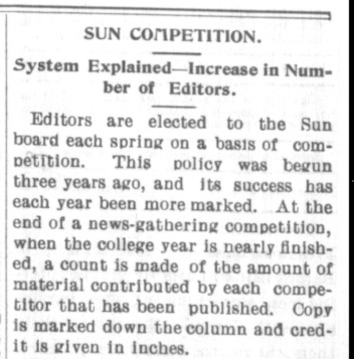 Today, staff reporters must undergo a six-week training process to become editors of The Sun.