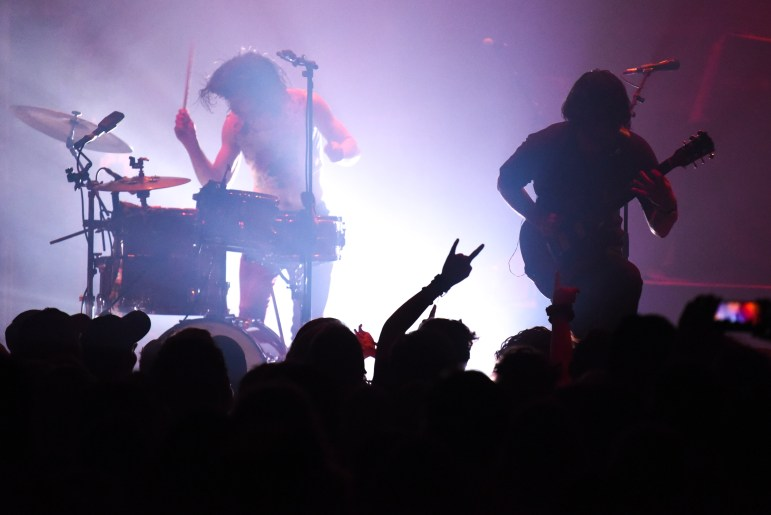 Illiterate Light performs during the opening act before Rainbow Kitten Surprise at the State Theatre on Tuesday. (Boris Tsang/Sun Photography Editor)