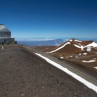 Telescopes can be found on the summit of Mauna Kea in Hawaii, April 26, 2015, where Native Hawaiians protest their construction.