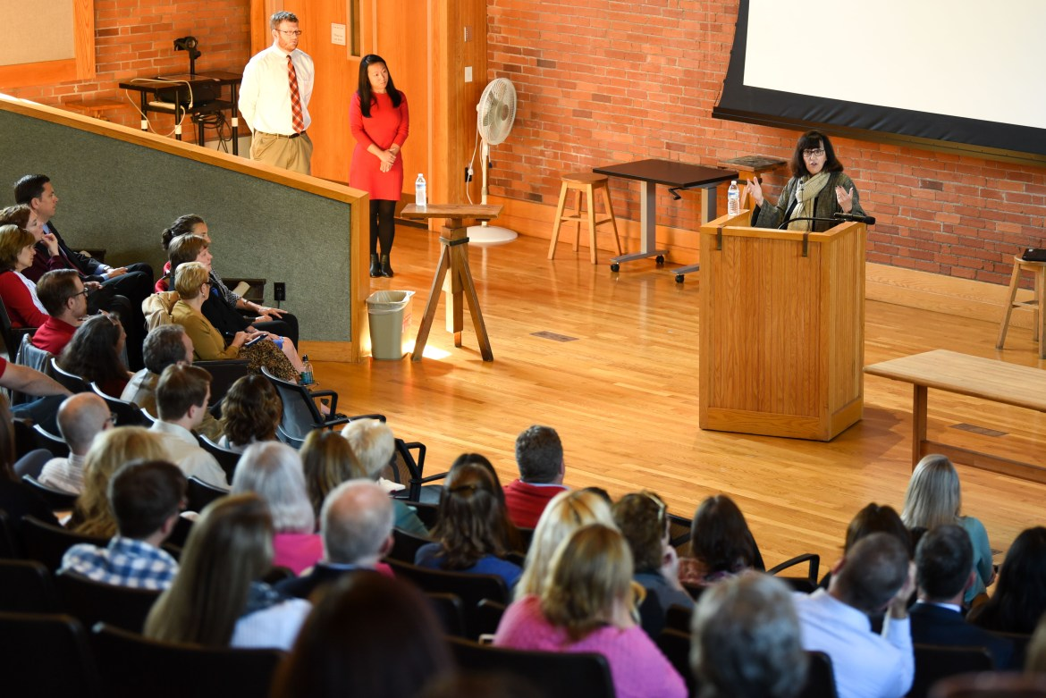 President Martha Pollack delivers the annual President's Address to Staff at Rockefeller Hall on October 10th, 2019.
