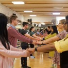 Students learn dance steps at Intro to Swing Dance, one of many popular P.E. classes offered.