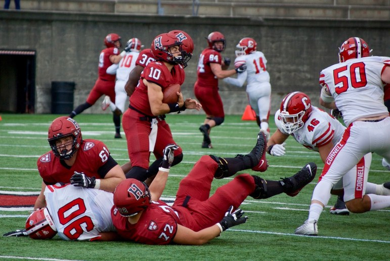 Harvard only outscored Cornell in one quarter — but that strong second quarter carried the Crimson to victory.