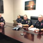 This year marks the third consecutive year that the Ithaca Police Department officers are wearing pink badges in support of October's Breast Cancer Awareness Month.