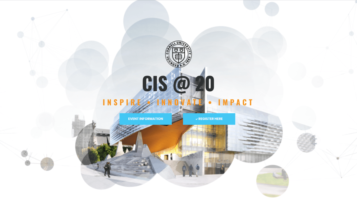 The talk between higher education thought leaders and tech gurus culminated the 20th anniversary celebration of CIS at Cornell.