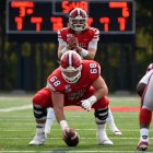Junior quarterback Richie Kenney prepares for a play at the game against Brown at Schoellkopf Field on October 26th, 2019. (Boris Tsang/Sun Photography Editor)