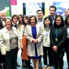 Students from EAS4442: Global Climate Change Science and Policy meeting Speaker Pelosi at the COP25 climate conference.