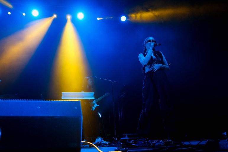 Daya performing at the Cornell Homecoming Concert at Barton Hall on Saturday, Oct. 5 2019.