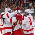 Cornell scored four times in the first period, paving the way for another victory.