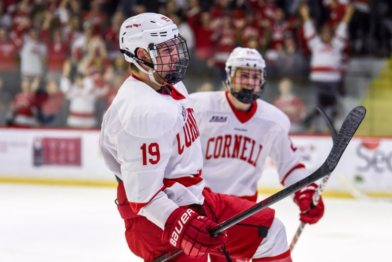 Sophomore forward Michael Regush netted his ninth goal of the season.