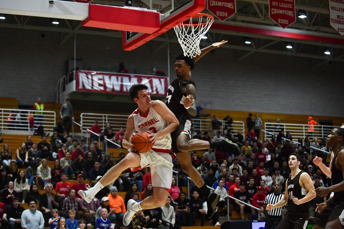 The Red struggled to make shots on the difficult home turf of the Brown University Bears.
