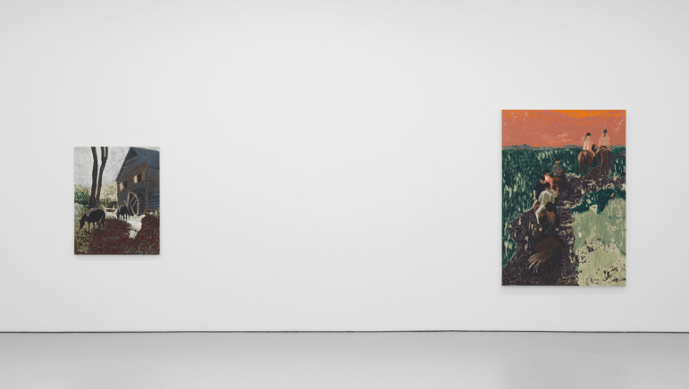 Installation View of work by Mamma Andersson, courtesy of David Zwirner Gallery