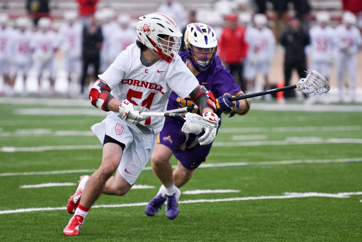 Senior attackman Jeff Teat led the Red with 27 points on 12 goals and 15 assists.
