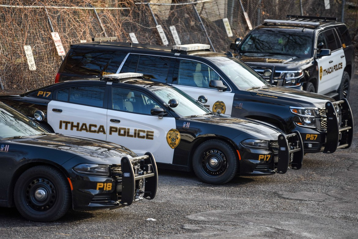 Ithaca Police Department on March 22, 2020.