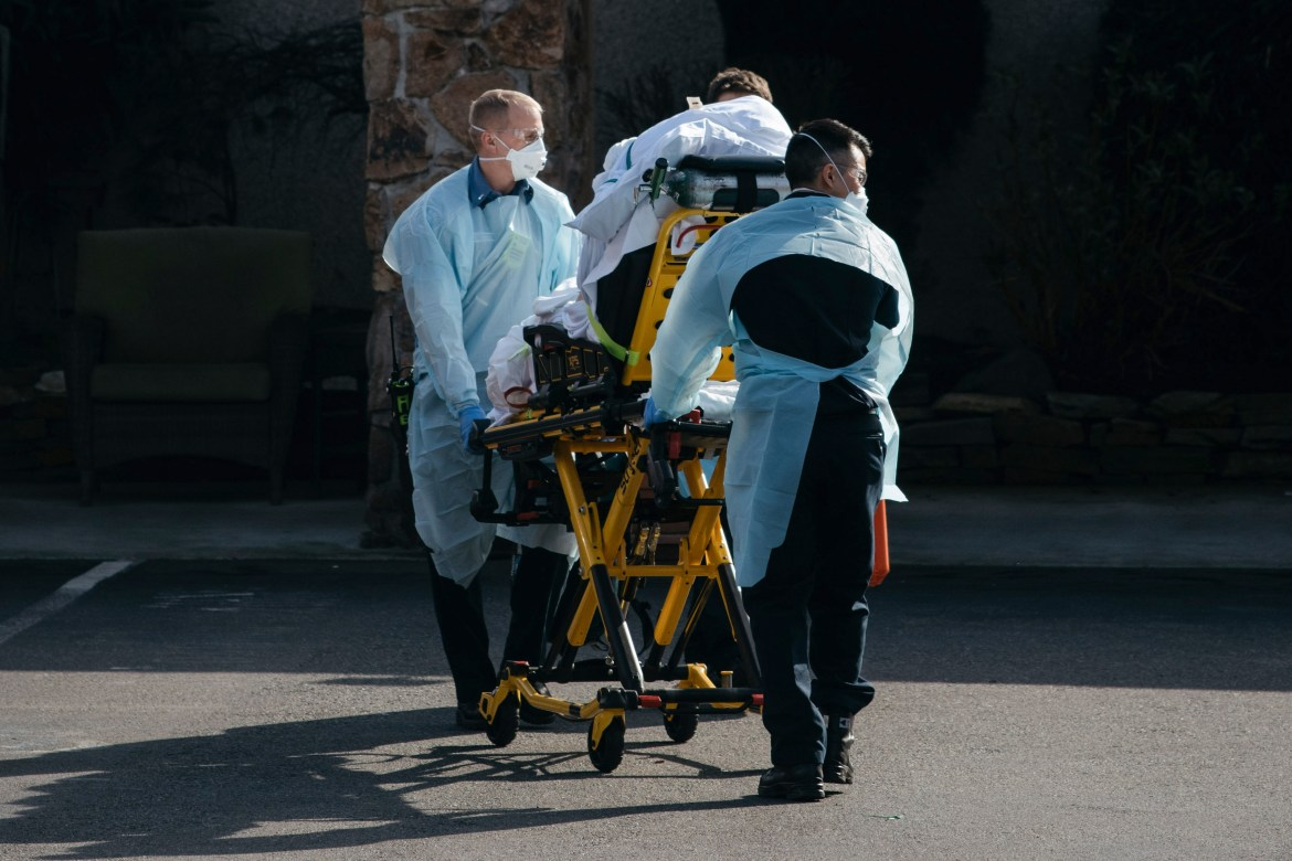 A patient is removed from a nursing home in Kirkland, Washington. As COVID-19 spreads in the U.S., Cornellians are beginning to feel the effects of the disease, even though there are no cases on campus or in Tompkins County.