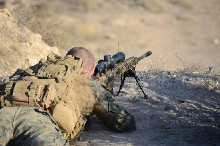Hughes was inspired to become a sniper after seeing a group of Italian snipers in Iraq.
